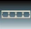 Rámeček pro elektroinstalační přístroje, čtyřnásobný vodorovný