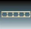 Rámeček pro elektroinstalační přístroje, pětinásobný vodorovný