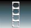 Rámeček pro elektroinstalační přístroje, čtyřnásobný svislý